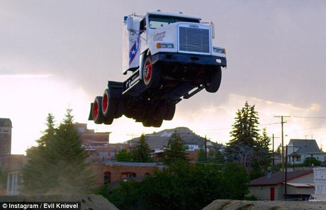 World record semi truck jump!