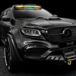 """O """"monstro"""" de 6 rodas inspirado num Mercedes"""