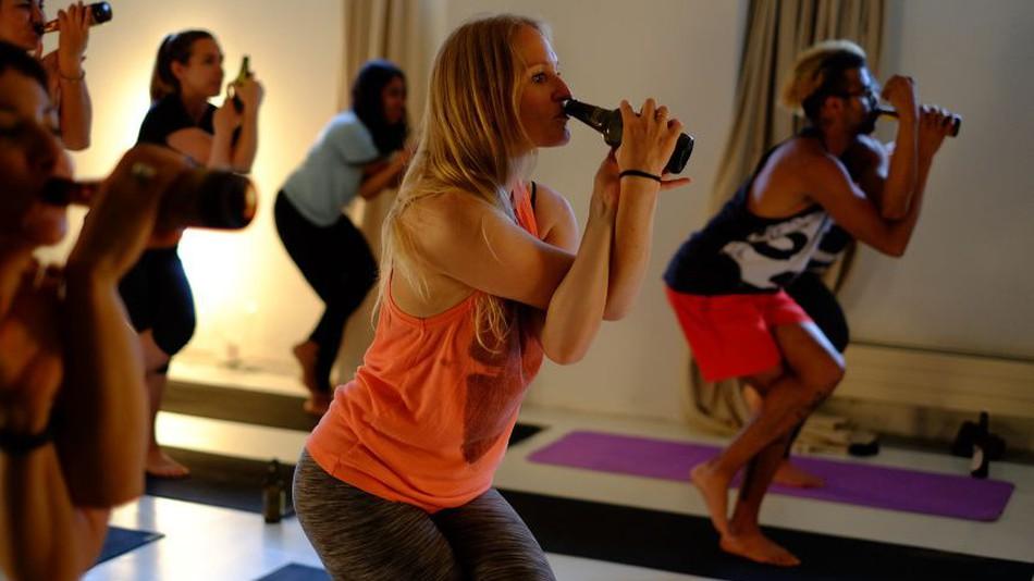 yoga cerveja